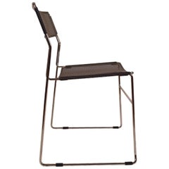 Black and Chrome Metal Mesh Chair