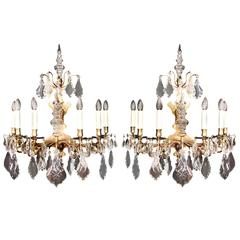 Large Pair of 18th Century Wall Lights
