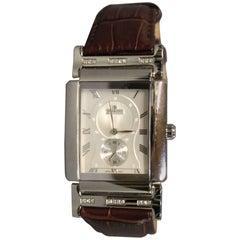 Jullou Men's Wristwatch of Danish Design Embodied with Diamonds
