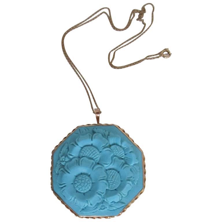 Vintage Italian Buccellati Style 14-Karat Gold Pendant Necklace or Brooch, Italy