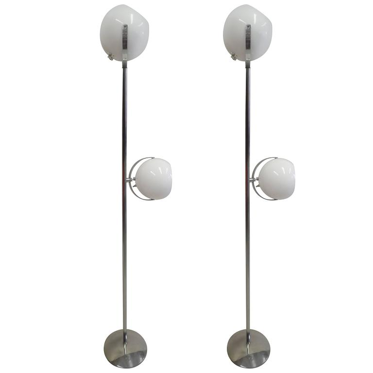 Pair of Italian Mid-Century Modern / Space Age Floor Lamps by Reggiani