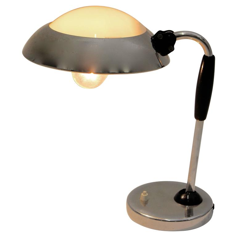 Bauhaus Desk Lamp Attributed to Christian Dell 1930s Germany