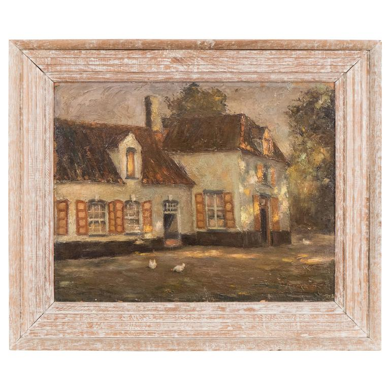 Charming Country Oil Painting For Sale at 1stdibs - photo#50