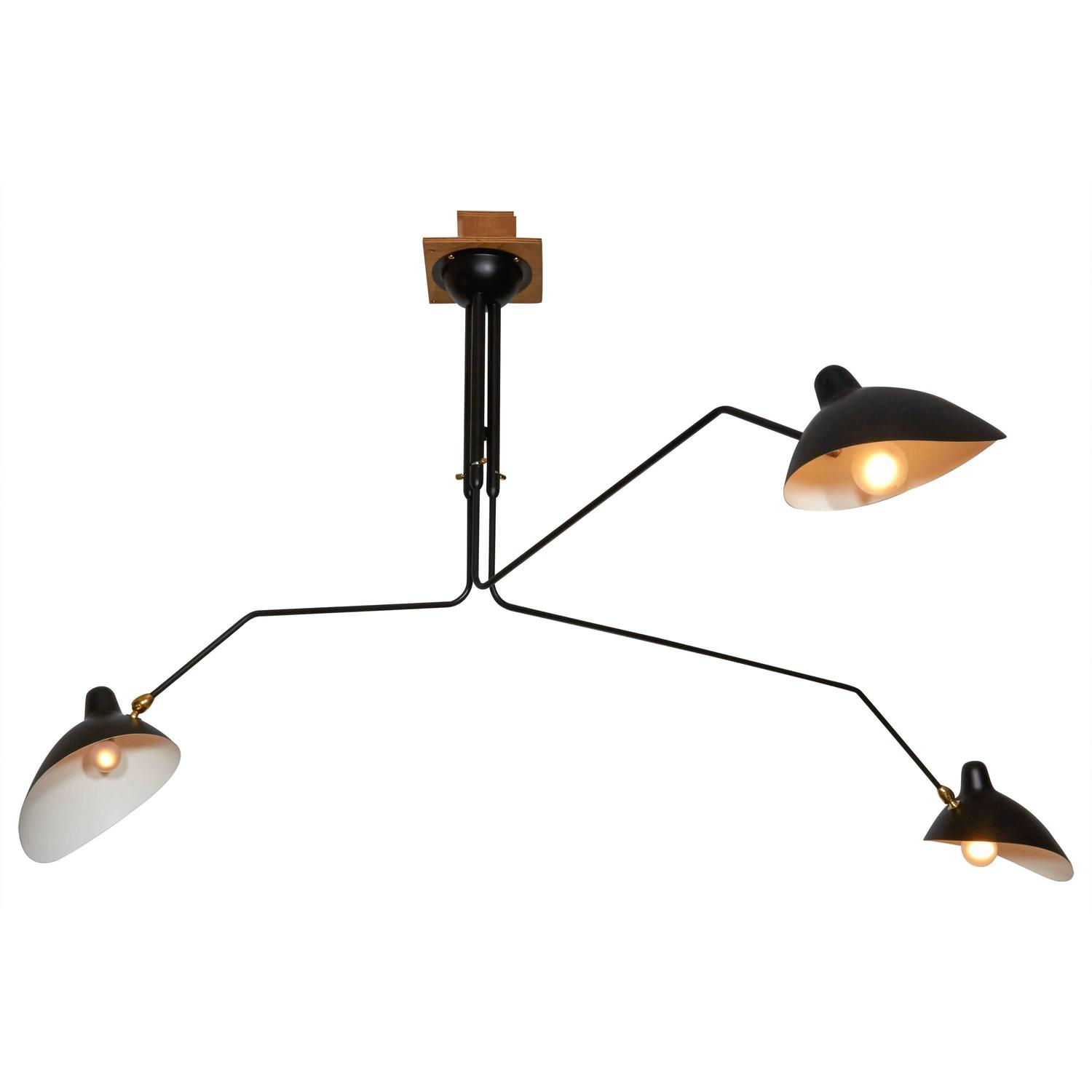 Classic French Three-Armed Ceiling Light For Sale At 1stdibs