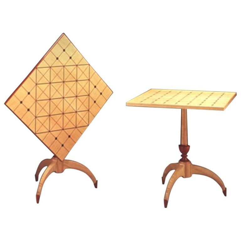 Unique Tilt-Top Dining, Game, or Center Table by Dale Broholm, USA 1992 For Sale