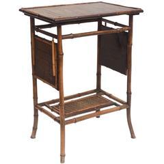 Rare 19th Century English Bamboo Tea Table Signed James Shoolbred, London