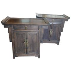 Pair of Wood Chinese Side Cabinets