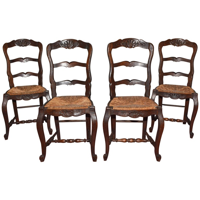 Antique French Provincial Dining Chairs For