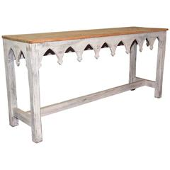Rustic Regency-Style Console Table