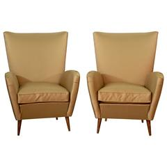 Pair of 1950s Italian Armchairs Attributed to Paolo Buffa