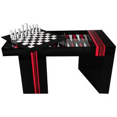 Jean Claude Farhi Methacrylate Game Table, Unique Piece