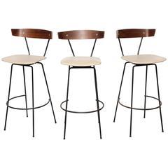 Set of 3 Clifford Pascoe Bar Stools
