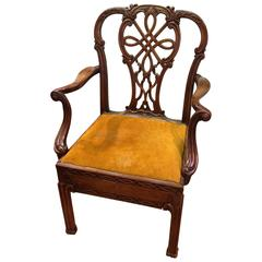 19th century mahogany metamorphic library chair