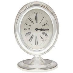 Art Deco Sterling Silver Mantel/Table Clock