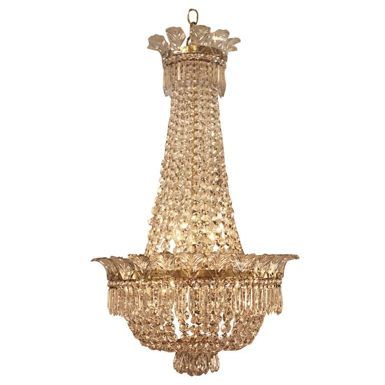 1930s Spanish Empire Style Crystal Chandelier At 1stdibs