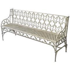 Large French Val D'osne Cast Iron Garden Bench