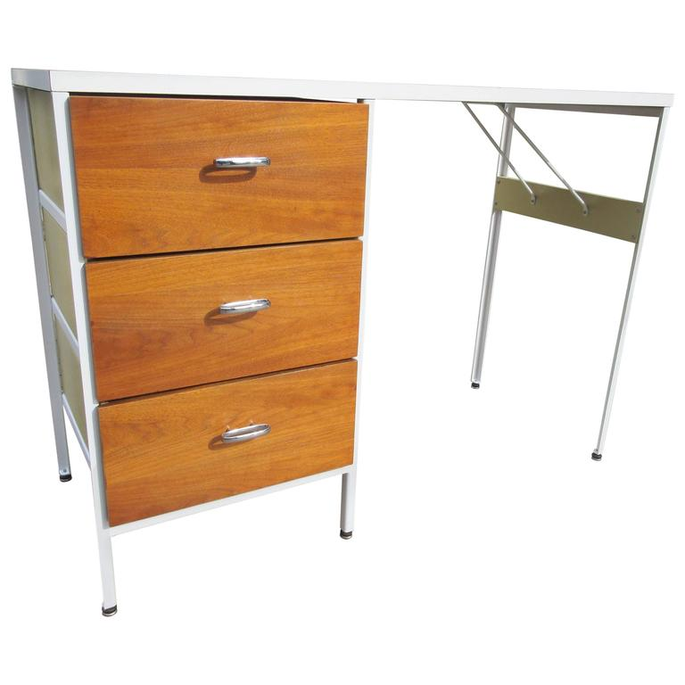 George Nelson for Herman Miller Steel Case Series Desk 1