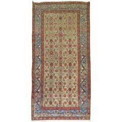 Antique Persian Malayer Gallery Blue Border Rug