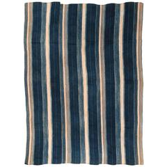 Shades of Blue Vintage Indigo Wrap from West Africa