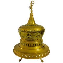 19th Century Turkish Brass Brazier