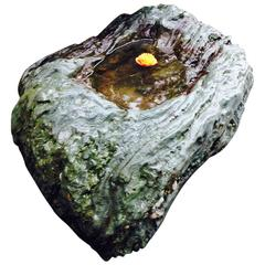 Japan Extraordinary Natural Green Stone Water/Plant Basin