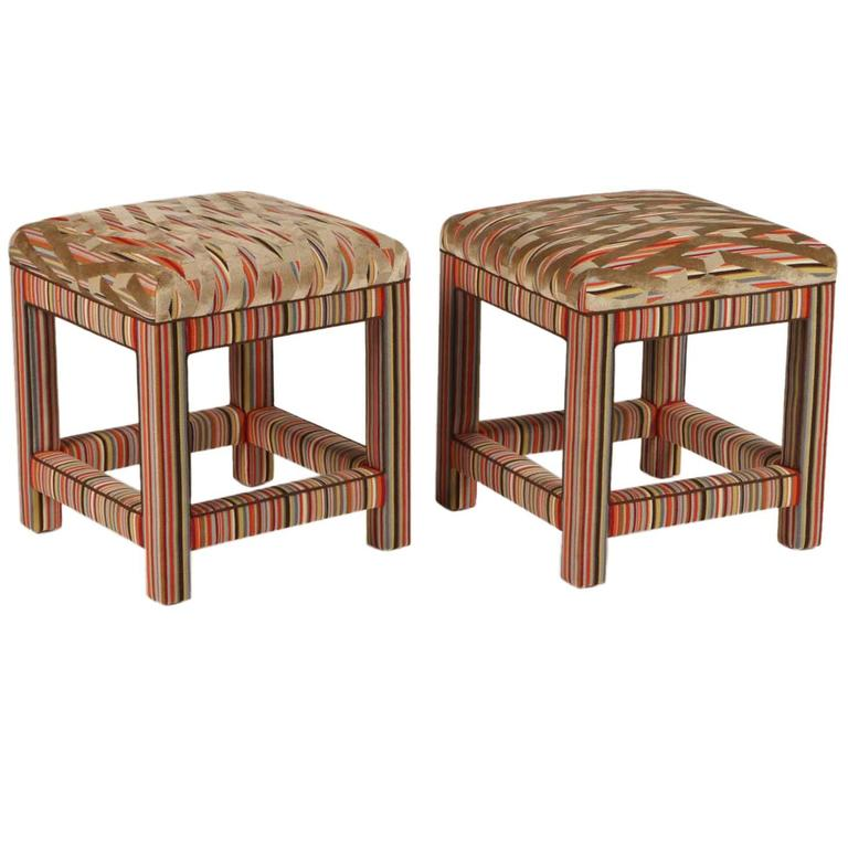 Pair of Custom Upholstered Benches For Sale