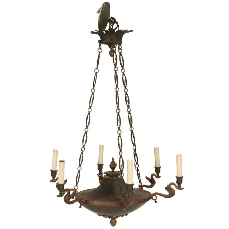 Bronze French Empire Style Chandelier