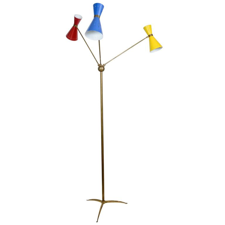 Decorative Stilnovo Floor Lamp