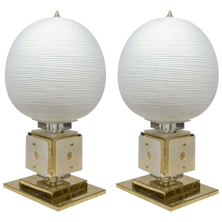 Impressive Pair of Tall Table Lamps For Sale