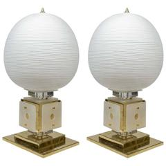 Impressive Pair of Tall Table Lamps