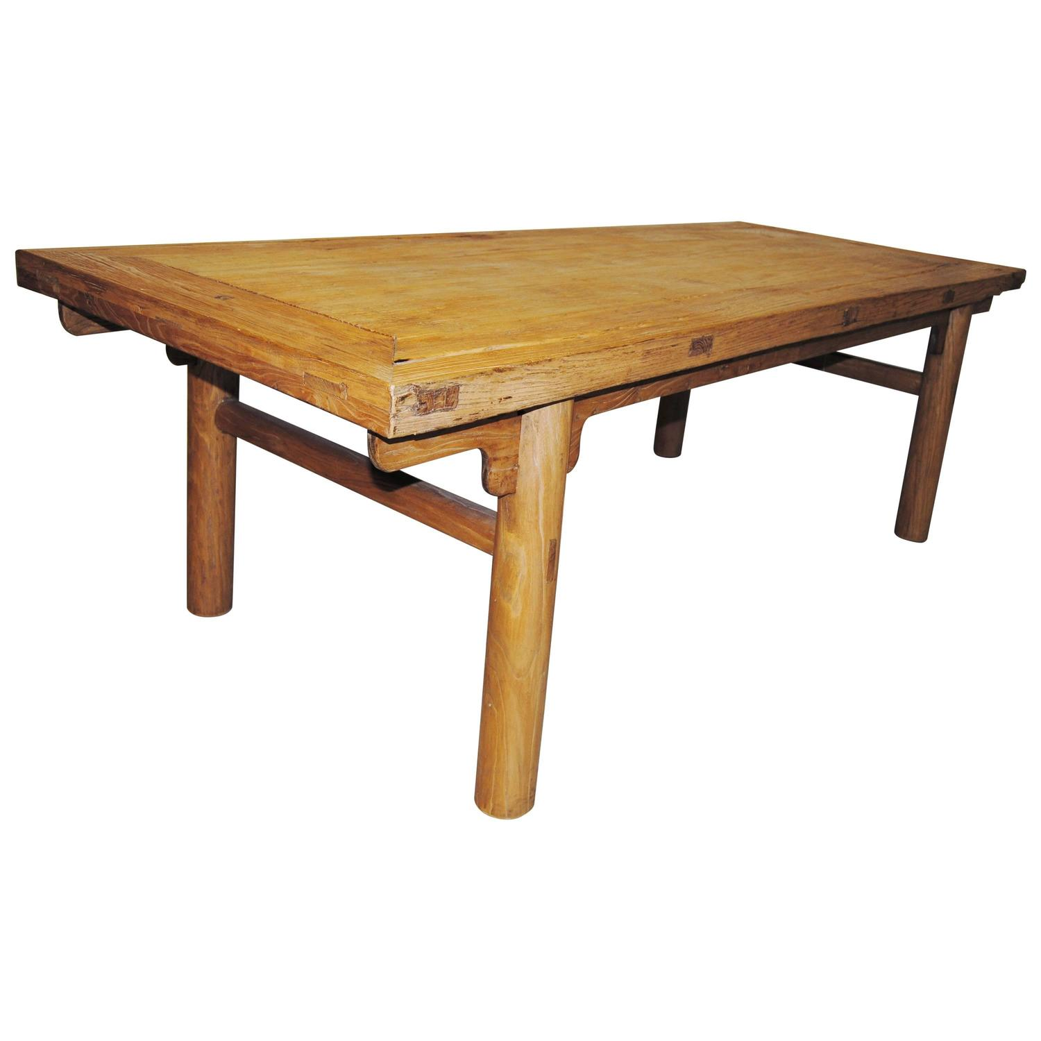 Chinese dining table made from an antique chinese elmwood for Oriental dining table