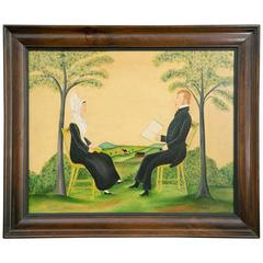 Portrait of Portrait of Mr. and Mrs. Chris Bomberger by Evelyn Dubiel