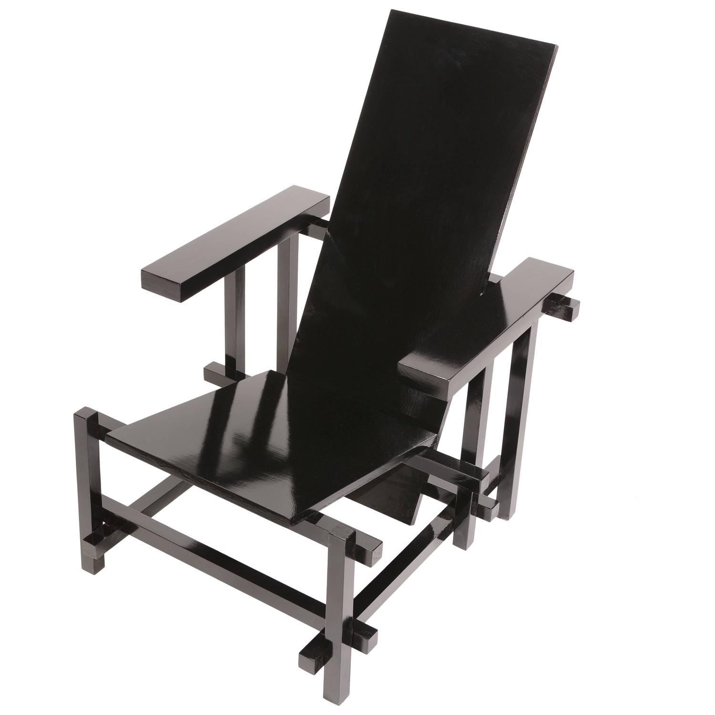 Vintage Gerrit Rietveld Chair in Black For Sale at 1stdibsGerrit Rietveld Chair