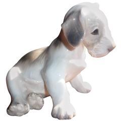 Dahl Jensen Copenhagen, Porcelain Figurine Number 1008, Fox Terrier