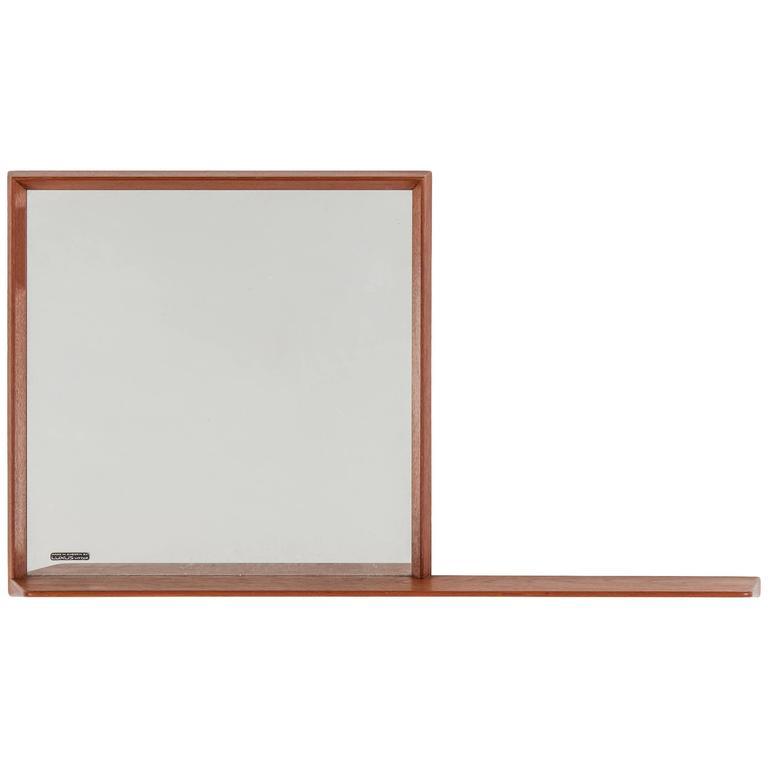 Rare Teak Mirror Designed by Uno & Östen Kristiansson