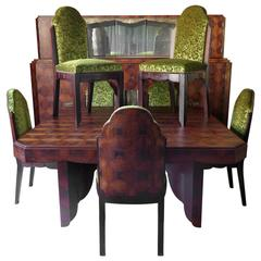Art Deco Dining Room Set by Mercier Freres, France, 1920s