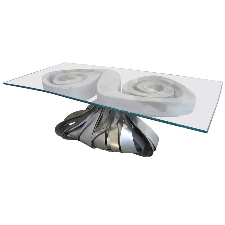 Mora design iron and glass table p re et fils 2016 for for Table franco et fils