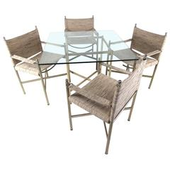 Mid-Century Modern Dining Table with Four Chairs
