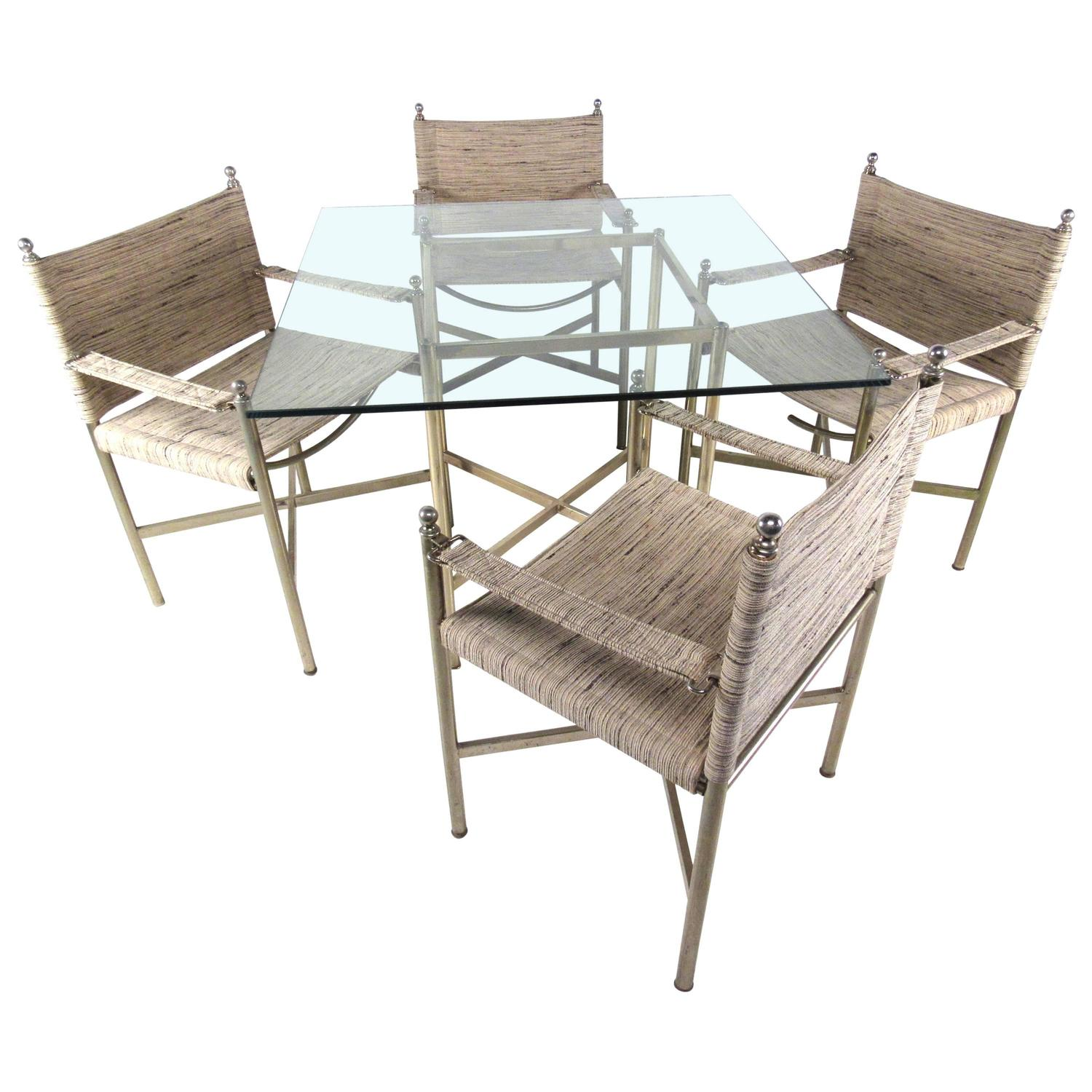 Modern Dining Table Sets On Sale: Mid-Century Modern Dining Table With Four Chairs For Sale