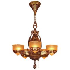Deco Era Ceiling Chandelier with Butterflies