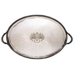 Antique Paul Storr Large Oval Sterling Silver Tray, circa 1805