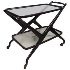 Italian Modern Cesare Lacca Bar Cart