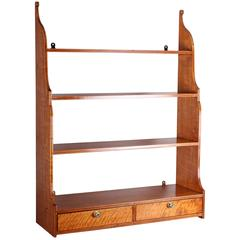 George III Period Hanging Shelves in Fine Quality Satinwood