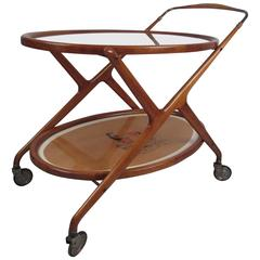 Mid-Century Italian Serving Cart by Cesare Lacca