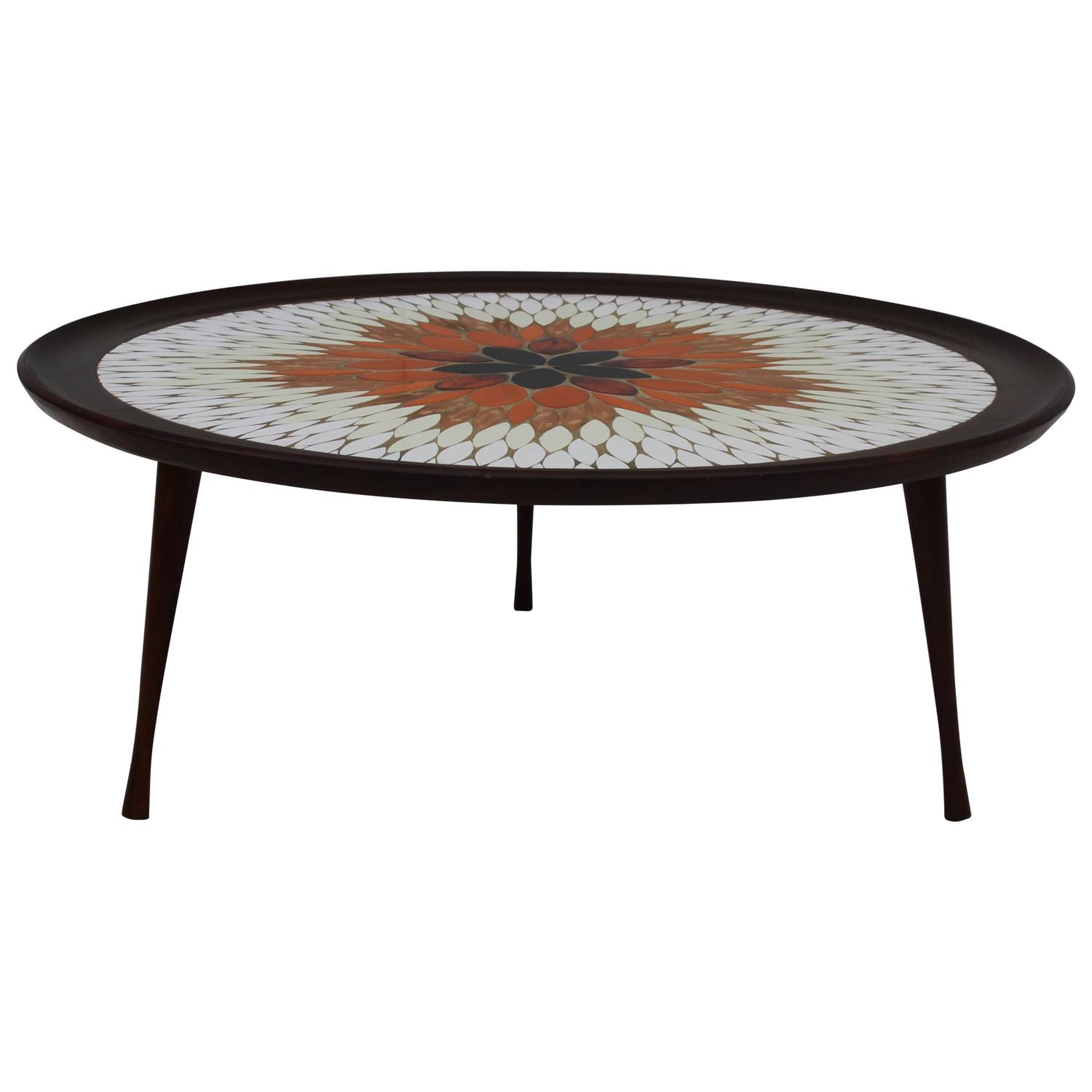 mid century modern italian mosaic coffee table for sale at 1stdibs. Black Bedroom Furniture Sets. Home Design Ideas