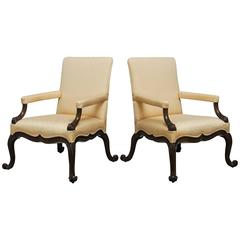 George II Style Gainsborough Library Chairs