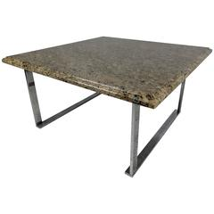 Vintage Marble Top Coffee Table