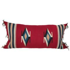 Mexican Indian Handwoven Serape Bolster Pillow