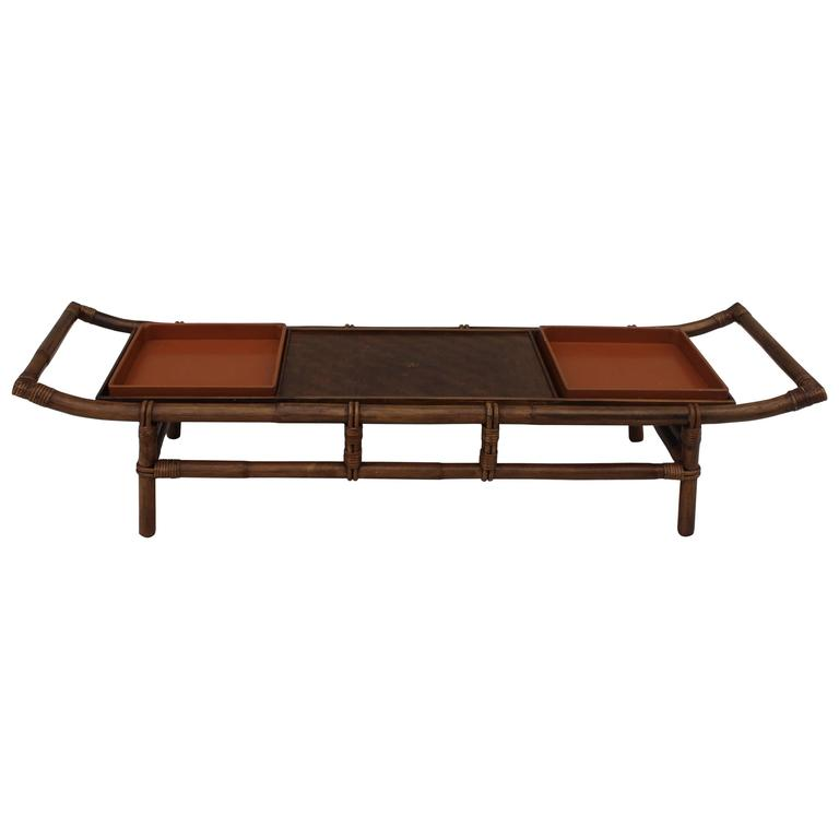 Amazing John Wisner For Ficks Reed Pagoda Coffee Table For Sale