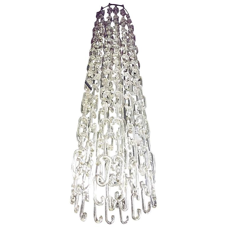 7 ft chain link murano glass chandelier by gino vistosi for sale at chain link murano glass chandelier by gino vistosi for sale aloadofball Image collections